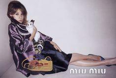 old miu miu ad with ludivine sagnier and bunny