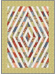 Diamond Trip Zig-Zag Quilt Pattern, what a great way to showcase scraps, themed colors, themed fabric!