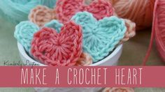 18 Exciting DIY Valentine's Day Decorations Learn To Crochet, Crochet For Kids, Diy Crochet, Free Heart Crochet Pattern, Crochet Patterns, Crochet Flowers, Fabric Flowers, Diy Valentine's Day Decorations, Easy Crochet Projects