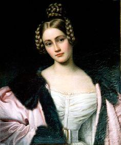 1834 Countess Holnstein by Joseph Karl Stieler (1 de noviembre de 1781, Maguncia, Alemania -  9 de abril de 1858, Múnich, Alemania). período rOMANTICO