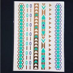 Ys-j11 золото продукты секса браслеты татуировки металл временные татуировки женщин вспышка золото серебро татуировки taty