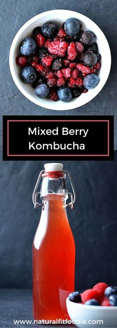 Homemade Kombucha – Soda lovers your healthy alternative is here! Do you know how to flavor Kombucha? It's super easy to turn your homemade Kombucha into a refreshing carbonated drink and the flavor options are endless! (Mix Berry Smoothie) – My WordPress Kombucha Drink, How To Brew Kombucha, Kombucha Recipe, Kombucha Flavors, Making Kombucha, Kombucha Brewing, Probiotic Foods, Fermented Foods, Healthy Food Alternatives