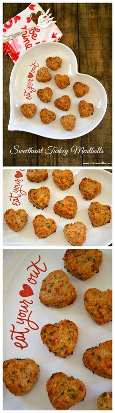 Sweetheart Turkey Meatballs collage