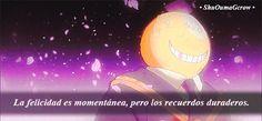 La felicidad es momentánea #ShuOumaGcrow #Anime #Frases_anime #frases