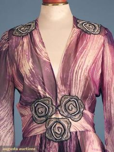 Augusta Auctions, April 2009 Vintage Fashion and Textile Auction, Lot 377: Thea Porter Couture Evening Dress, 1975-1980