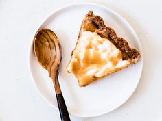 Vegan Gluten Free Recipes - Pumpkin Pie Tart with Gingersnap Crust + Coconut Whipped Cream + Salted Caramel Recipe for Fall