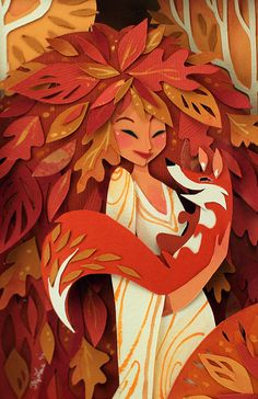 Brittney Lee. Designer, animator and illustrator from US. Works in a wide variety of mediums: traditional animation, CG animation, book and stationary illustration, cut paper sculptures.
