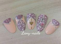 """@pelikh_""""#crystalnails #nailart #nails #nail #rose_nails #rose #vintagenails #zany_nails"""""""