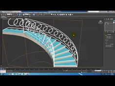 Spiral Stair 3Ds max 2014 - YouTube