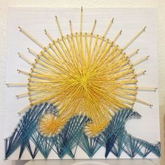 Sun and Waves String Art by MadeWithMerritt on Etsy