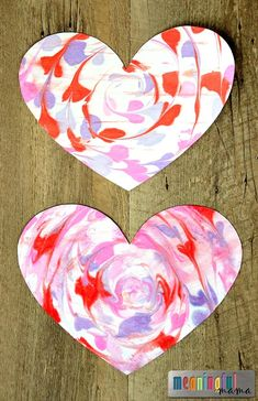 Make a Marbled Valentine Heart with Shaving Cream with your kids this Valentine's Day. This is the perfect Valentine craft for kids of all ages. day crafts Marbled Valentine Heart with Shaving Cream Preschool Valentine Crafts, Kinder Valentines, Valentine Theme, Valentines Day Activities, Kindergarten Crafts, Valentines Ideas For Preschoolers, Valentines Art For Kids, Valentine Words, Valentine Hearts