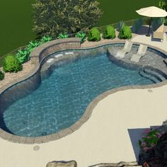 Stay tuned... Can't wait to see this Gunite Pool project finished.  Backyard Pool Landscaping, Backyard Pool Designs, Small Backyard Pools, Swimming Pools Backyard, Outdoor Pool, Pools Inground, Inground Pool Designs, Swimming Pool Designs, Gunite Swimming Pool