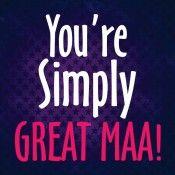 Urban Chakkar You're Simply Great Maa Love Recordable Greeting Card