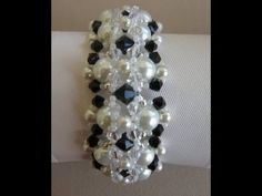 Pearl Bracelet. Браслет - YouTube;  no audio, but slide show of very clear pictures for tutorial.  Beautiful and simple to make.