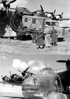 Tunisia Unloading a MAN truck from a Messerschmitt Gigant The giant Me 323 transport aircraft was used to bring in supplies, even though it was very vulnerable in a combat zone. Luftwaffe, Ww2 Aircraft, Military Aircraft, Aircraft Engine, Ww2 Planes, War Photography, Military History, World War Two, Wwii