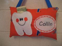 BoysTooth Fairy Pillow Florida Gators print fabric which can be personalized by 4Brig