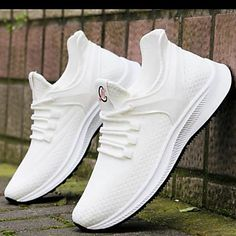 Men's Trainers Athletic Shoes Casual Daily Walking Shoes Mesh Black / White White / Green Black Spring & Summer Fall & Winter 2021 - US $36.74 Buy Mens Shoes, Mens Shoes Online, Mens Fashion Shoes, Mens Trainers, All White Sneakers, Casual Sneakers, Casual Shoes, Cheap Puma Shoes, Comfortable Mens Shoes