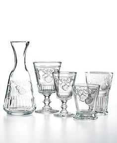 French Home Glassware, La Rochere Versailles Collection - Glassware - Dining & Entertaining - Macy's