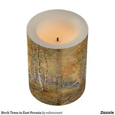 Birch Trees in East Prussia Flameless Candle