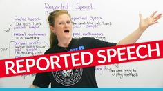 Reported speech and indirect speech mean the same thing: They allow you to express what someone has said. This sentence, He said he was studying English, is an example of reported speech. But how do you conjugate the verbs? Is it he said he was studying or he said he studied? Both are correct depending on the situation. Learn how to say it correctly every time with Ronnies quick and easy chart. Your friends said they watched this lesson. So what are you waiting for?