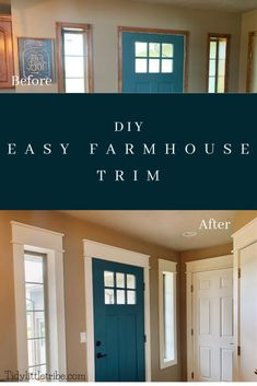 This is an easy and very inexpensive way to update all of the trim in your house to give it that farmhouse look.