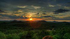 Jungle Sunset Tight Shot mayan temple