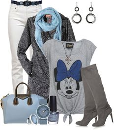 """""""Gray and Blue #2-Just for Fun"""" by kori-belle ❤ liked on Polyvore"""