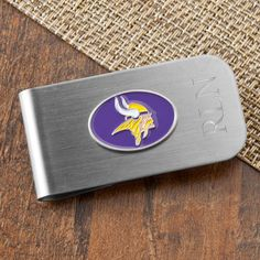 Personalized NFL Money Clip Bottle Opener #groomsmen #weddings #nfl #bottleopener #beer