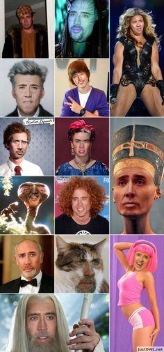 Nicolas Cage as everyone