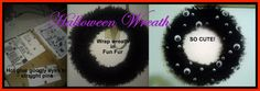 Halloween Wreath with Fun Fur and Googly Eyes.