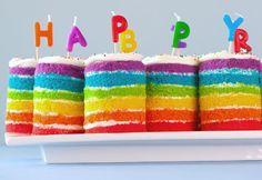 Teeny Tiny Rainbow Cakes | Rock UR Party Recipes SO CUTE!  #cupcake