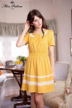 14f202030c Miss Patina Edelweiss Dress (mustard)