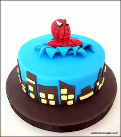 Spiderman Cake by Vadecakes