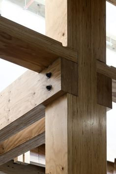 NMIT Arts & Media Building (Archts: Irving Smith Jacks Architects) nice use of wood joinery here Timber Architecture, Architecture Design, Joinery Details, Timber Structure, Wood Joints, Wood Detail, Building A Shed, Shed Plans, Barn Plans