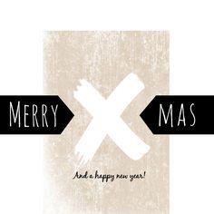 Kerstkaart Merry X-Mas - IP, verkrijgbaar bij #kaartje2go voor €1,89