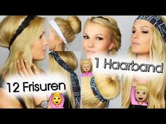 1 Haarband - 12 Frisuren   SatHairDay - YouTube