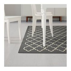 IKEA - HOVSLUND, Rug, low pile, Suitable for use underneath your dining table, as the flat-woven surface makes it easy to pull out… Ikea Rug, Medium Rugs, Dark Grey Rug, Professional Carpet Cleaning, Ikea Home, Buy Rugs, Fibres, How To Clean Carpet, Luxury Interior