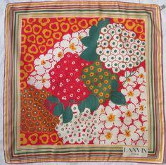 -Superbe Foulard LANVIN 100% soie TBEG vintage scarf 57 x 57 cm   eBay 630171677fc