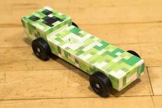 pinewood derby car ideas | Minecraft Pinewood Derby Car | Ideas for Scouts