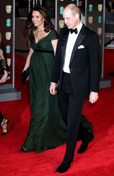 Hidden meaning behind Kate Middleton's stunning green BAFTAs gown which broke event's dress code - Mirror Online