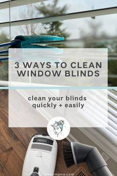 3 Ways to Clean Window Blinds – Clean Mama Cleaning Blinds, Deep Cleaning, Spring Cleaning, Clean Window Blinds, Blinds For Windows, Cleaning Checklist, Cleaning Hacks, Mold And Mildew Remover, Clean Mama