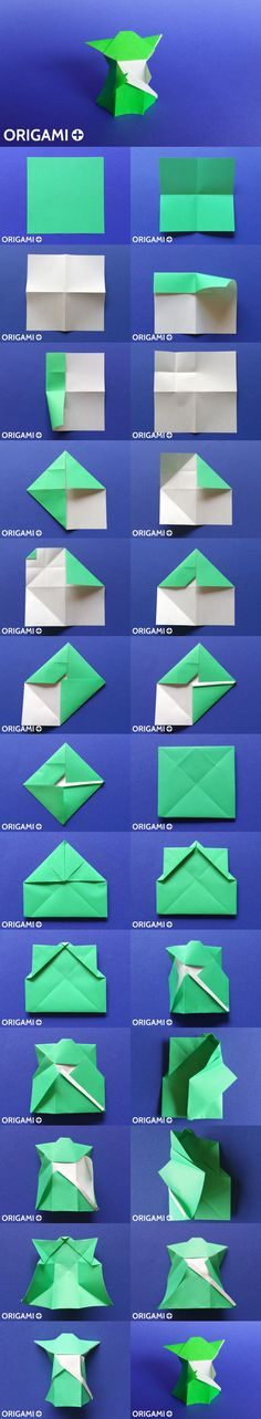 Origami Yoda tutorial. Star Wars origami.                                                                                                                                                     More