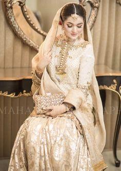 Pakistani Wedding Outfits, Bridal Outfits, Pakistani Dresses, Indian Dresses, Pakistani Clothing, Bridal Looks, Bridal Style, Nikkah Dress, Eastern Dresses
