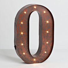 "12""H Battery Operated LED Letter, Timer, Letter O"