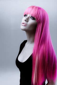 Pink hair...ever so pretty!!!