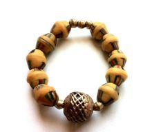 Unisex Akan Brass Krobo Bracelet by SimonesBoutique on Etsy, $25.00