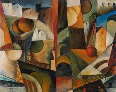 "Albert Gleizes  'Paysage Cubiste'  1914  Oil on canvas  28.5 x 35.75"""