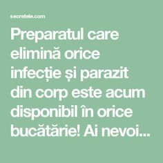 Preparatul care elimină orice infecție și parazit din corp este acum disponibil în orice bucătărie! Ai nevoie doar de 6 ingrediente simple..... - Secretele.com Natural Remedies For Ed, Natural Remedies Sore Throat, Natural Remedies For Migraines, Herbal Remedies, Yeast Infection During Pregnancy, Fitness Diet, Health Fitness, Acid Reflux Remedies