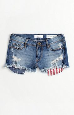 Bullhead Denim Co Flag Pocket Shorts at PacSun.com