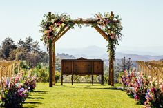 Ceremony arch at Sacred Mountain Retreat